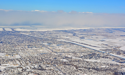 Aerial Photo of St Catharines Winter