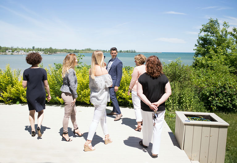 The Real Estate Team overlooking the Niagara Harbour
